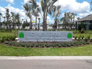 cypress creek cool pool sign